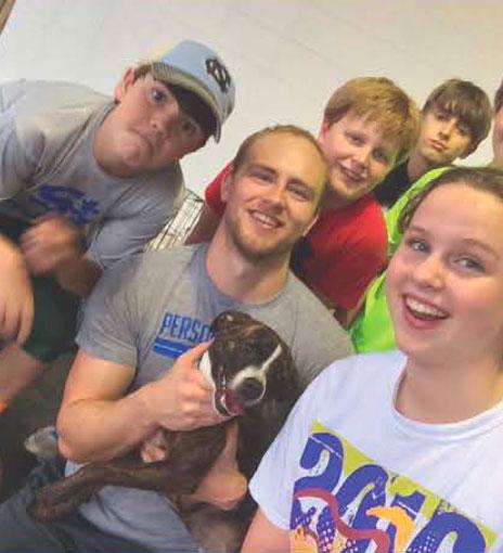 Josh and his rescue dog Blaze