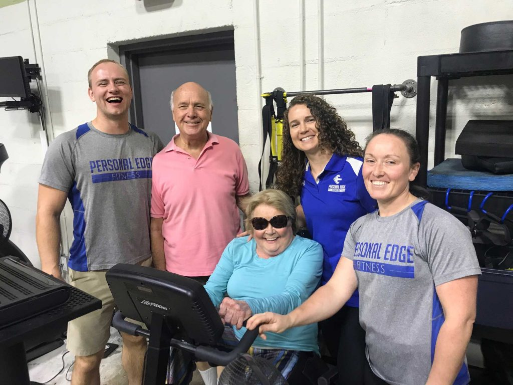 Personal Edge Fitness team and senior training