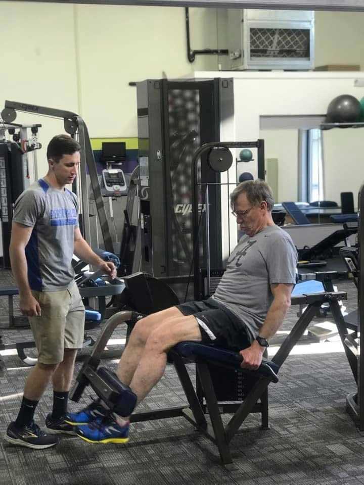 Personal Edge Fitness senior training leg day