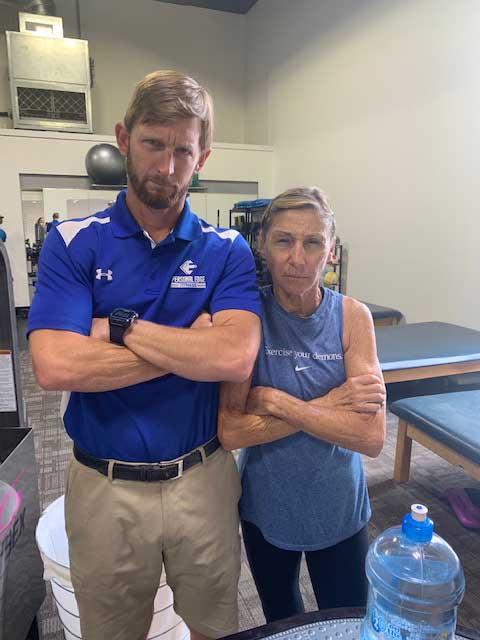 Personal Edge Fitness tough senior training