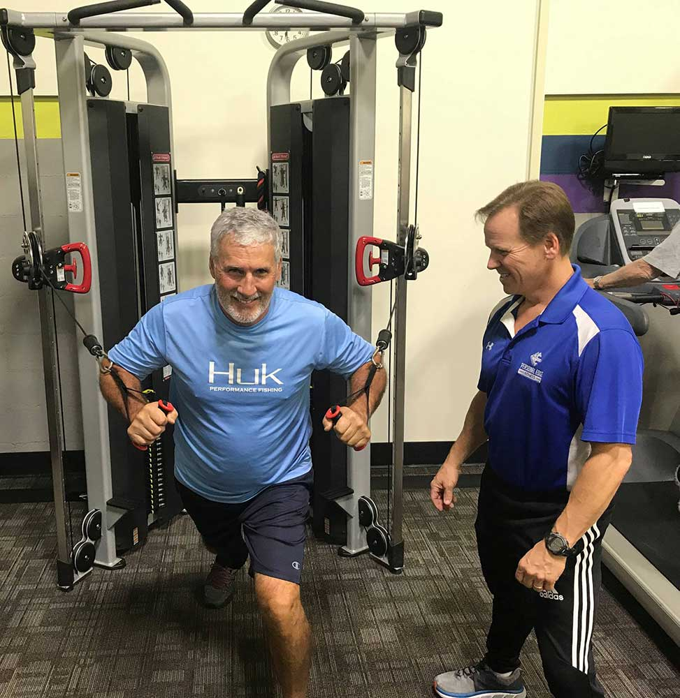chest press at personal edge fitness