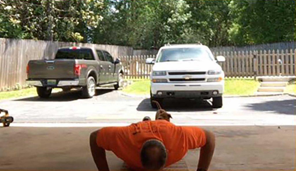 Personal Edge Fitness home training push ups