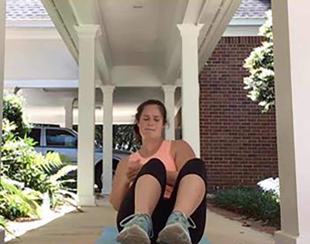 Personal Edge Fitness home training russian twist exercises