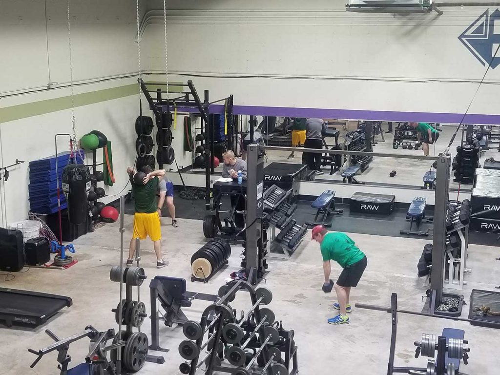 overview of the gym floor at personal edge fitness
