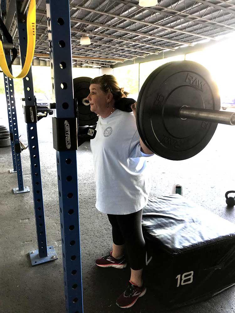 personal edge squats, leg workout