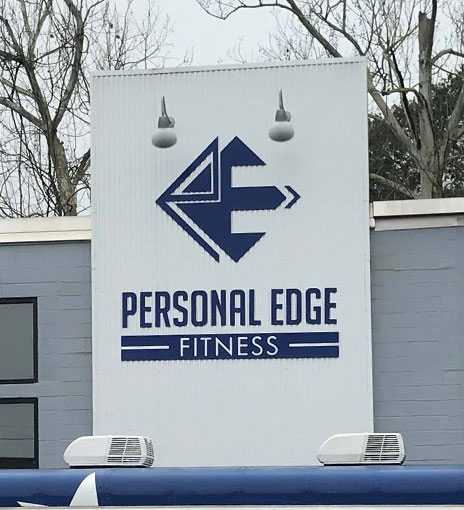 Personal Edge Fitness, outside building sign
