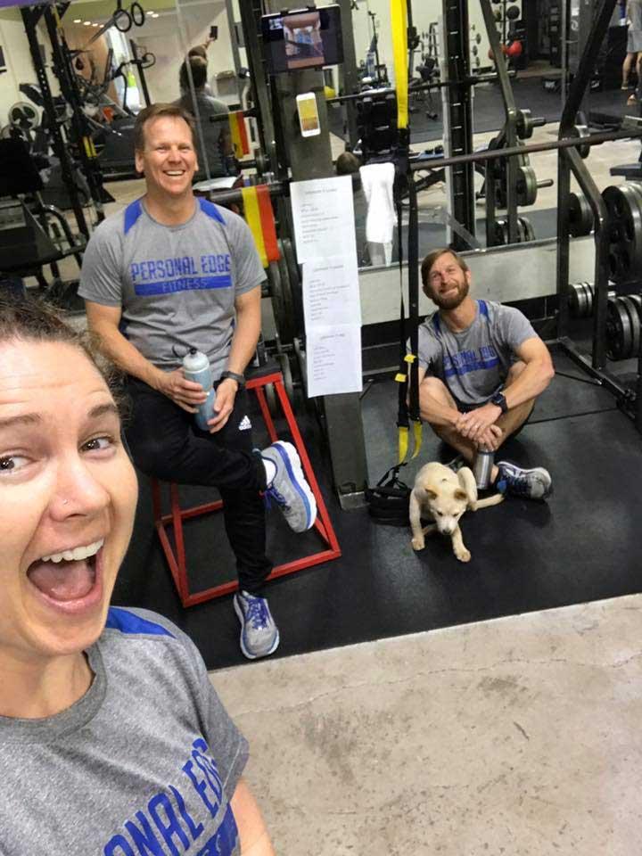 Personal Edge Fitness trainers Garrett, Gary and Lindsey